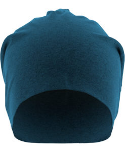 Heather Jersey Beanie Royal Seite Front