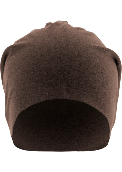 Heather Jersey Beanie Chocolate Seite Front