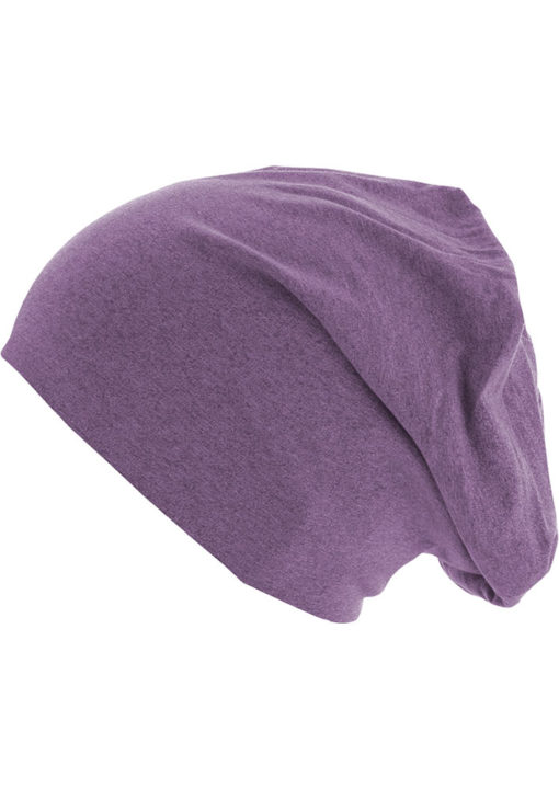 Heather Jersey Beanie lila Seite links