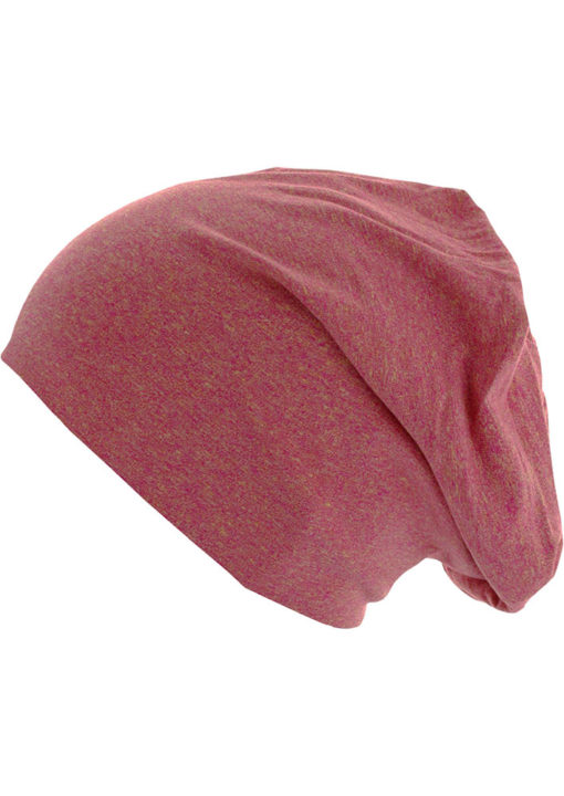 Standard Heather Jersey Beanie Magenta Seite links