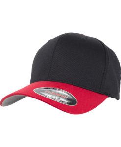 Flexfit Cap 2-Tone schwarz/rot
