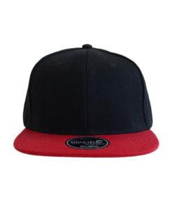 atlantis-cap-snap-back-cap-nero-rosso-front