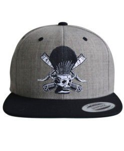 barber-skull-heather-black-cap
