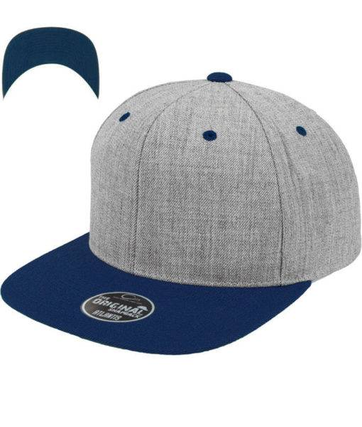 standard-snapback-cap-classic-graumeliertblau-6-panel-verstellbar