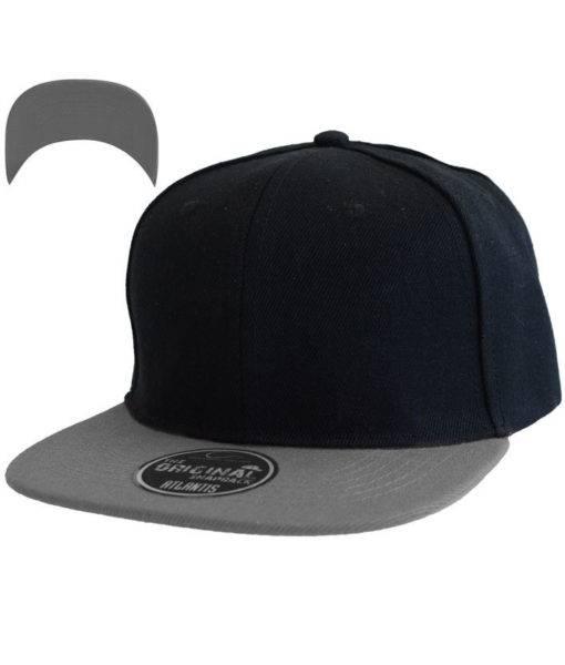 atlantis-cap-snap-back-cap-nero-grigio-verstellbar
